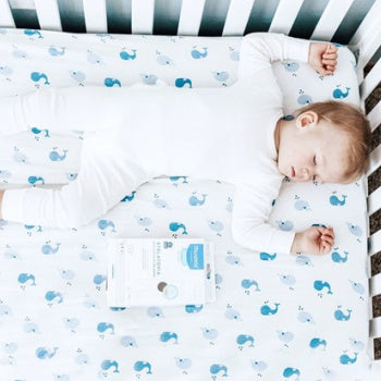 sleeping child after having a baby massage