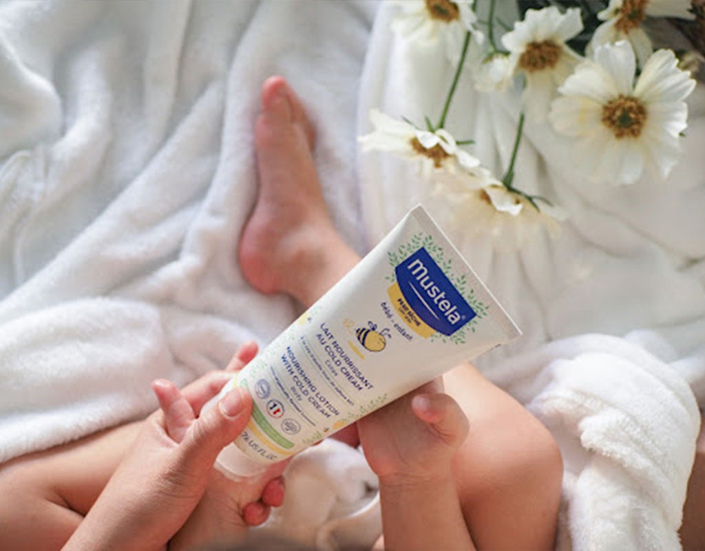 Mustela products with ceramides for skin