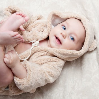 baby after bath and baby perfume application