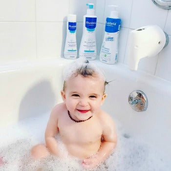 Example of proper bath baby proofing