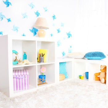 baby toys on low shelves
