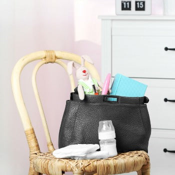 diaper bag filled with baby essentials