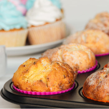 muffins at a gender reveal party