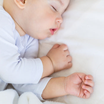 upclose of baby sleeping