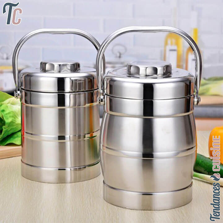 Lunch Box Isotherme Inox Deluxe Cylindre