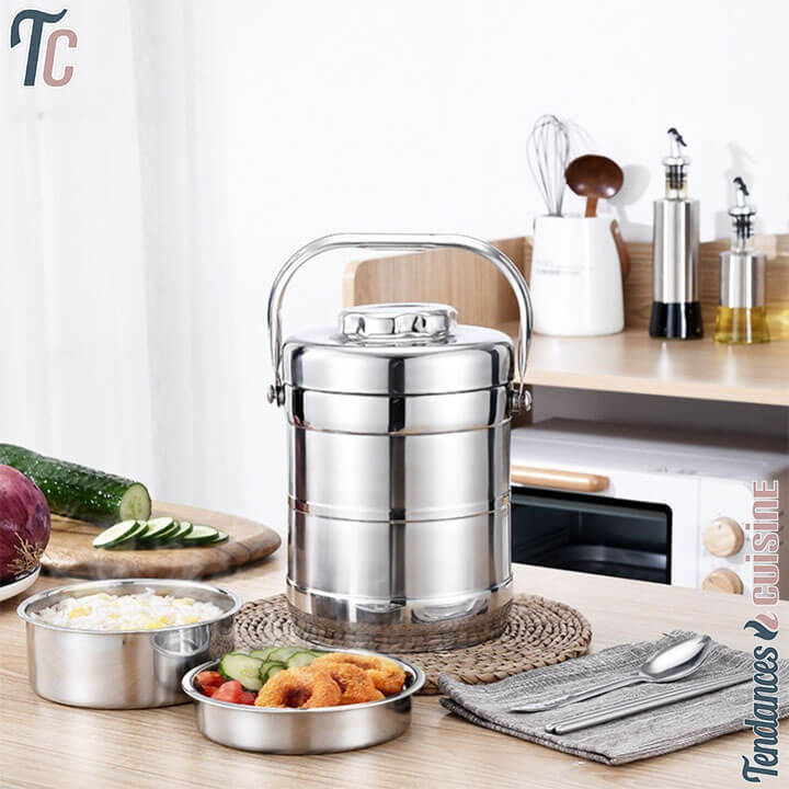 Lunch Box Isotherme Inox Deluxe Cylindre Inox