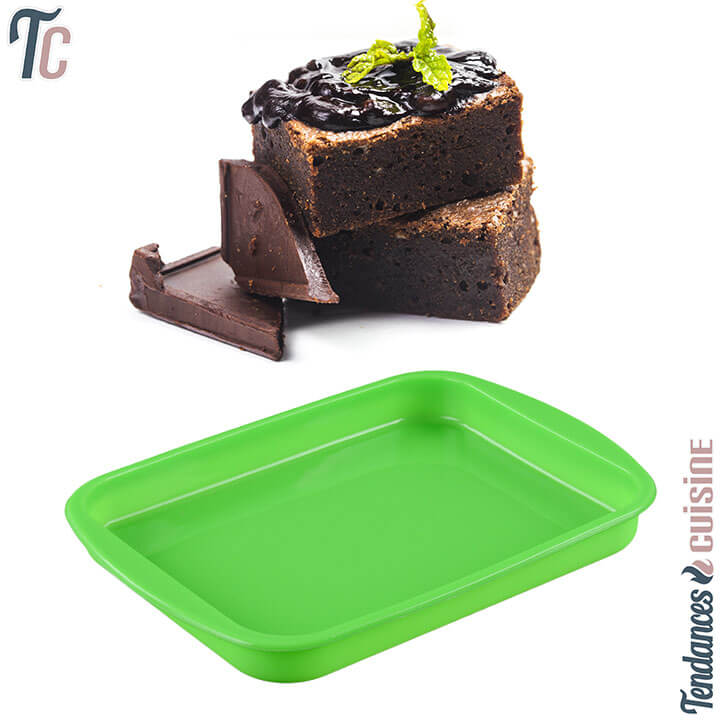 Mise en situation du Moule à Brownies Silicone - Rectangulaire