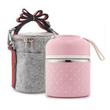 Lunch Box Japonaise Bento 2 compartiments rose Tendances-cuisine.fr