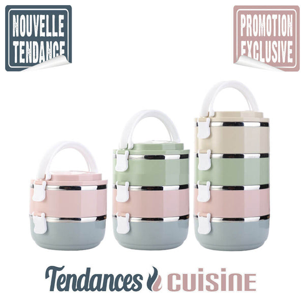 Lunch Box Japonaise Bento Multi Compartiments Isotherme 4 versions - Tendances-cuisine.fr