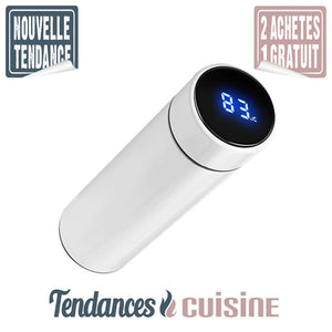 Thermos Intelligent avec écran LCD 500 ML Blanc Bouteille Isotherme