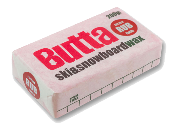 Butta Rub On Snowboard & Ski Wax