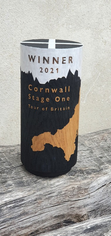 Winner's Trophy for the Cornwall Stage of the 2021 Tour of Britain