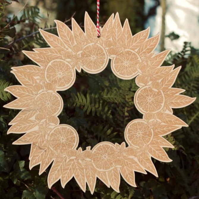 Anja Dunk Wooden Christmas Wreath