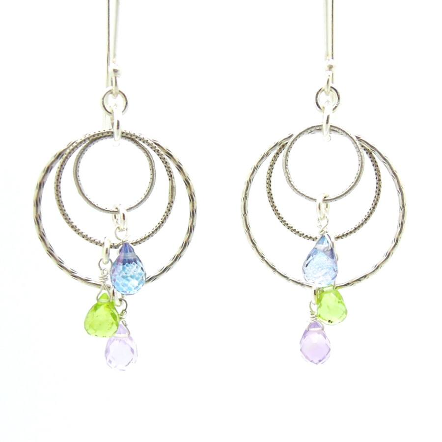 Earrings - Crystal Chandelier Sterling Silver Earrings