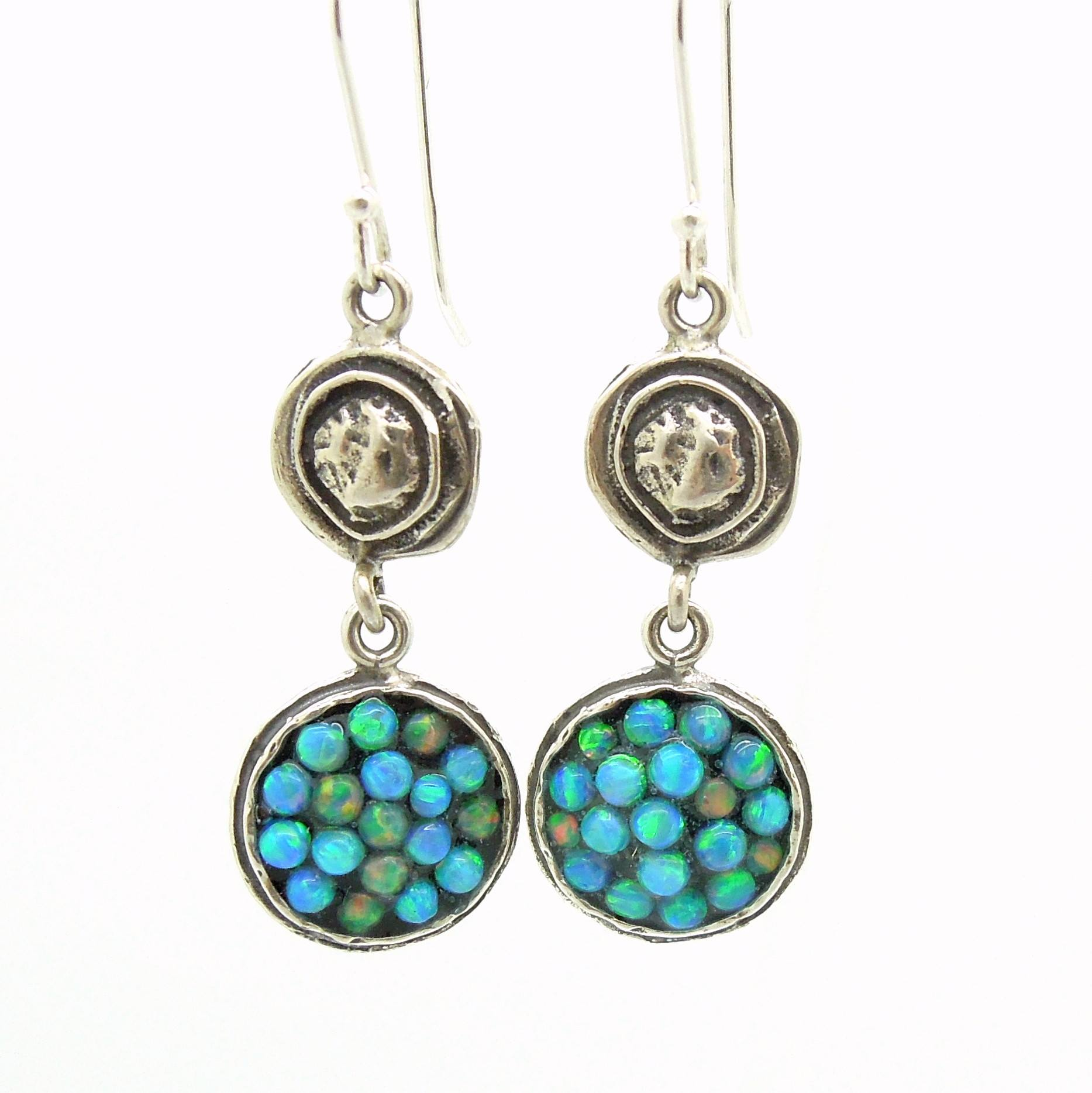 in wire the design opal valltasy earrings silver gemstone ethiopian hoop wrapped snowflakes
