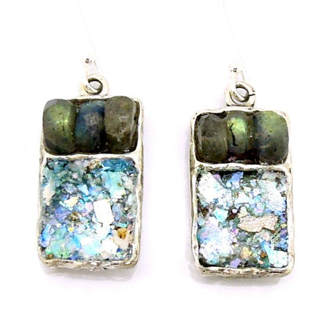 Earrings - Labradorite Square Earrings