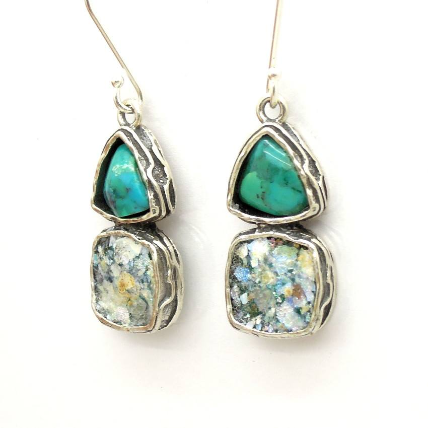 blue earrings r handmade old nevada gem gemstone turquoise jewelry product