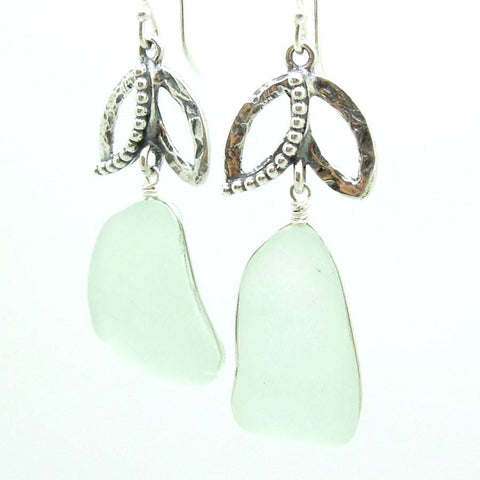 Earrings - Sterling Silver Handmade Sea Glass Earrings