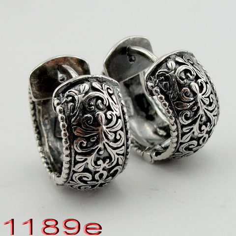 Amazing Filigree Earrings, Israeli Jewelry, 925 Sterling Silver, Handmade, Silver Earrings, Gift for Her (ms 1189e)