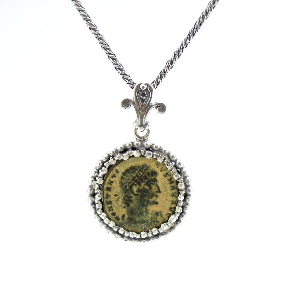 pendant ancient roman original necklace jewelry coin