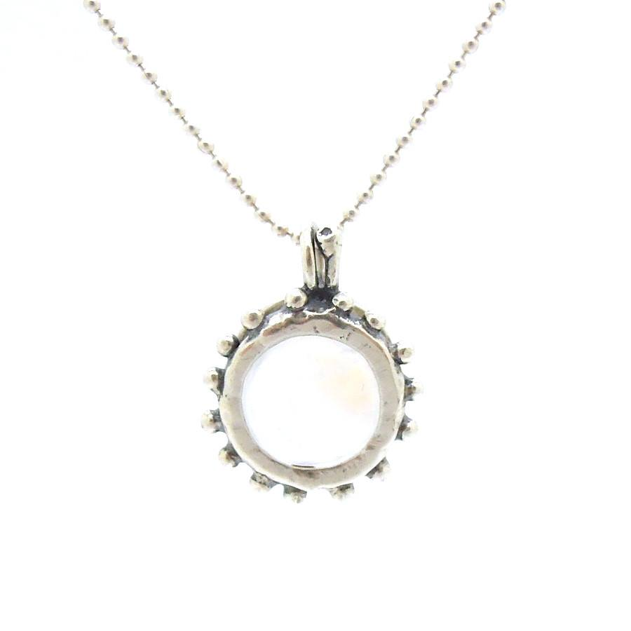 Pendant - Moonstone Pendant Set In Sterling Silver Circles