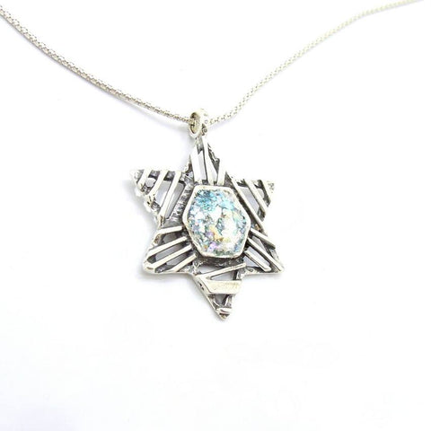 Pendant  - Star Of David Desinged Silver Necklace