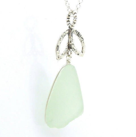 Pendant - Sterling Silver Sea Glass Pendant