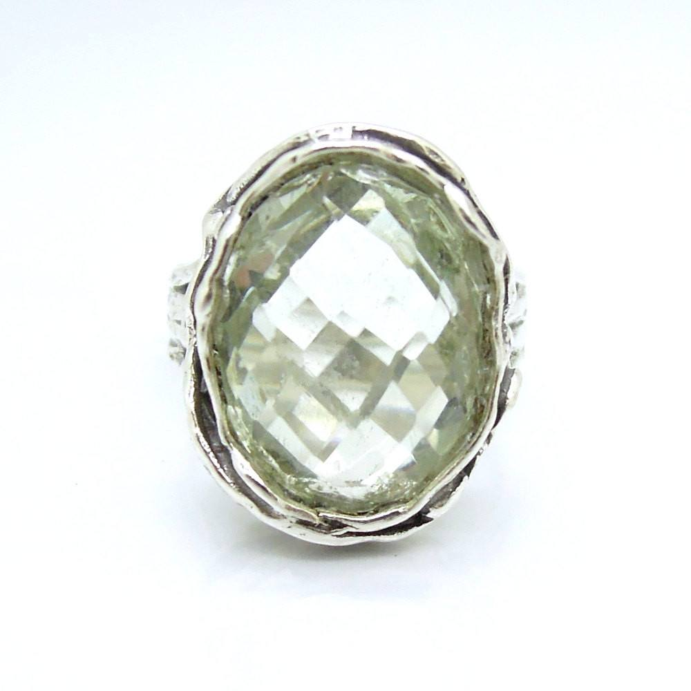 Ring - Raw Beauty Silver Ring With A Green Amethyst