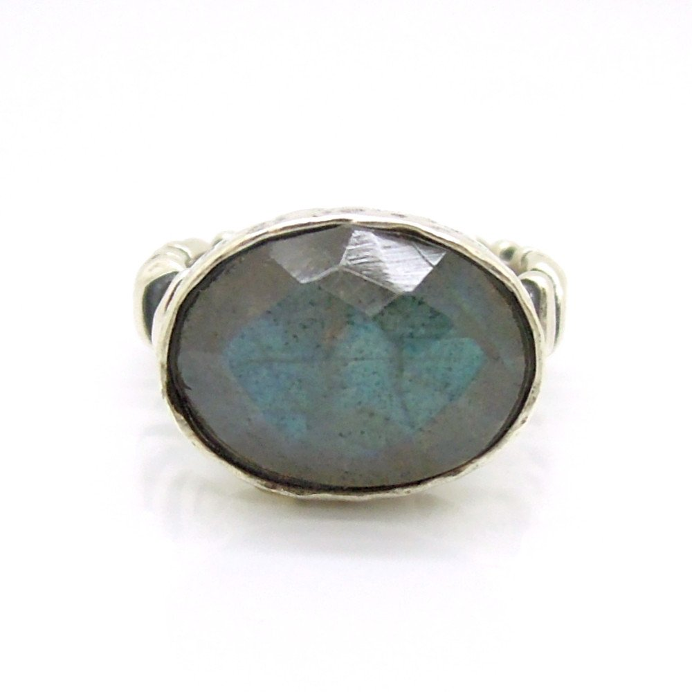 Ring - Silver And Labradorite Gemstone Ring