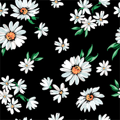 Daisy on Black -