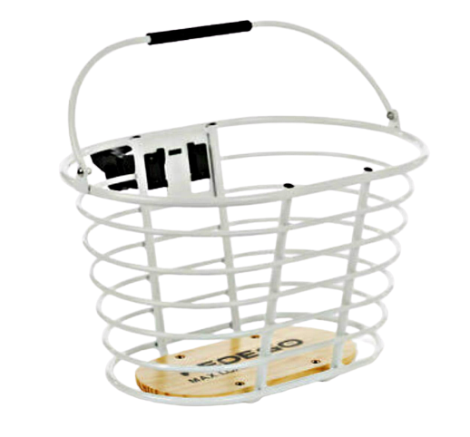Pedego Wire Handelbar Basket - White - Quick Release