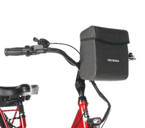 Pedego Front Bag - Black - Quick Release - Rain Cover
