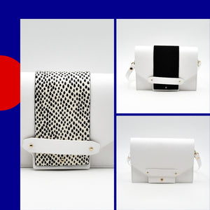 Mini box - Blanc et serpent pois