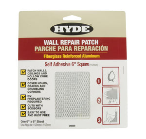 Hyde Self Adhesive Wall Patch 6in x 6in (150mm)