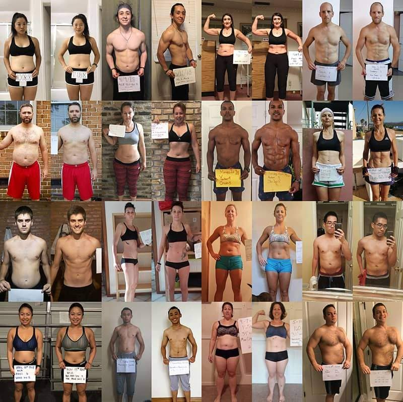 collage of weight loss before and after photos from people who have experienced the benefits of jumping rope