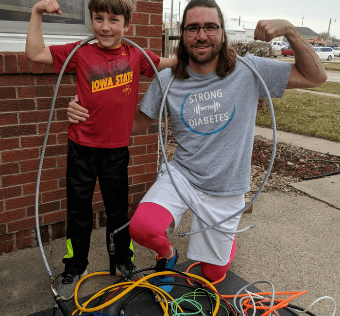 Derrick and Grady posing with ropes