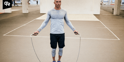 Man jumping rope with Crossrope