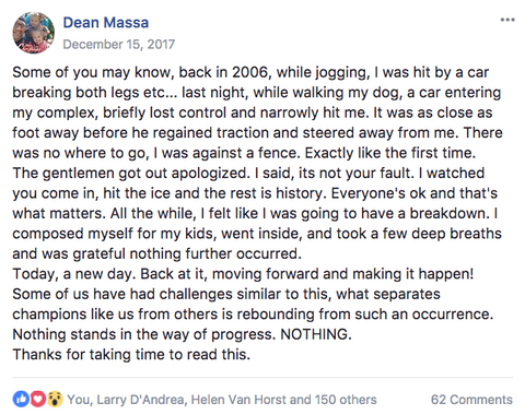 Dean Massa Facebook Post #1
