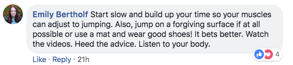 Jump Rope Community Member Comment