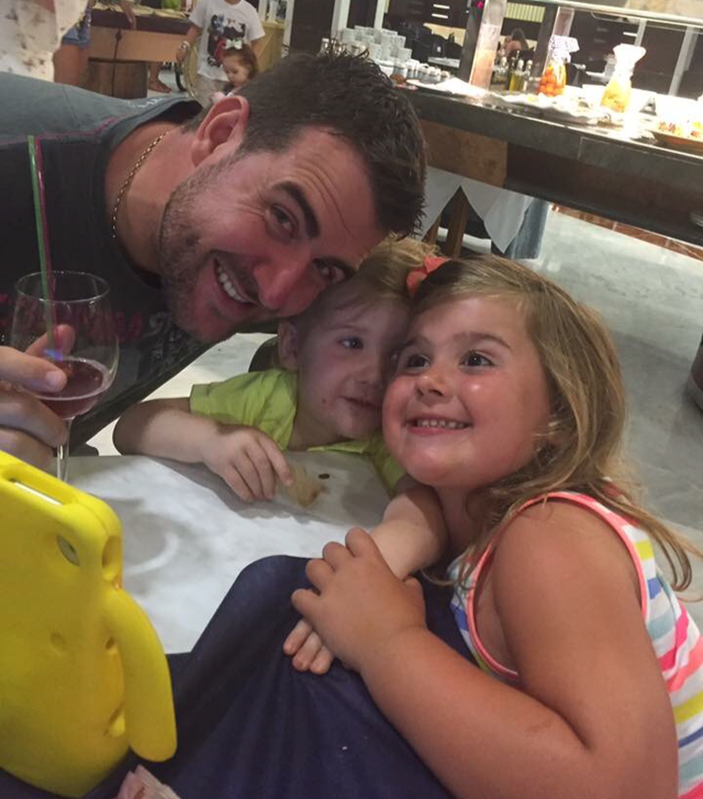 Matt and his two daughters