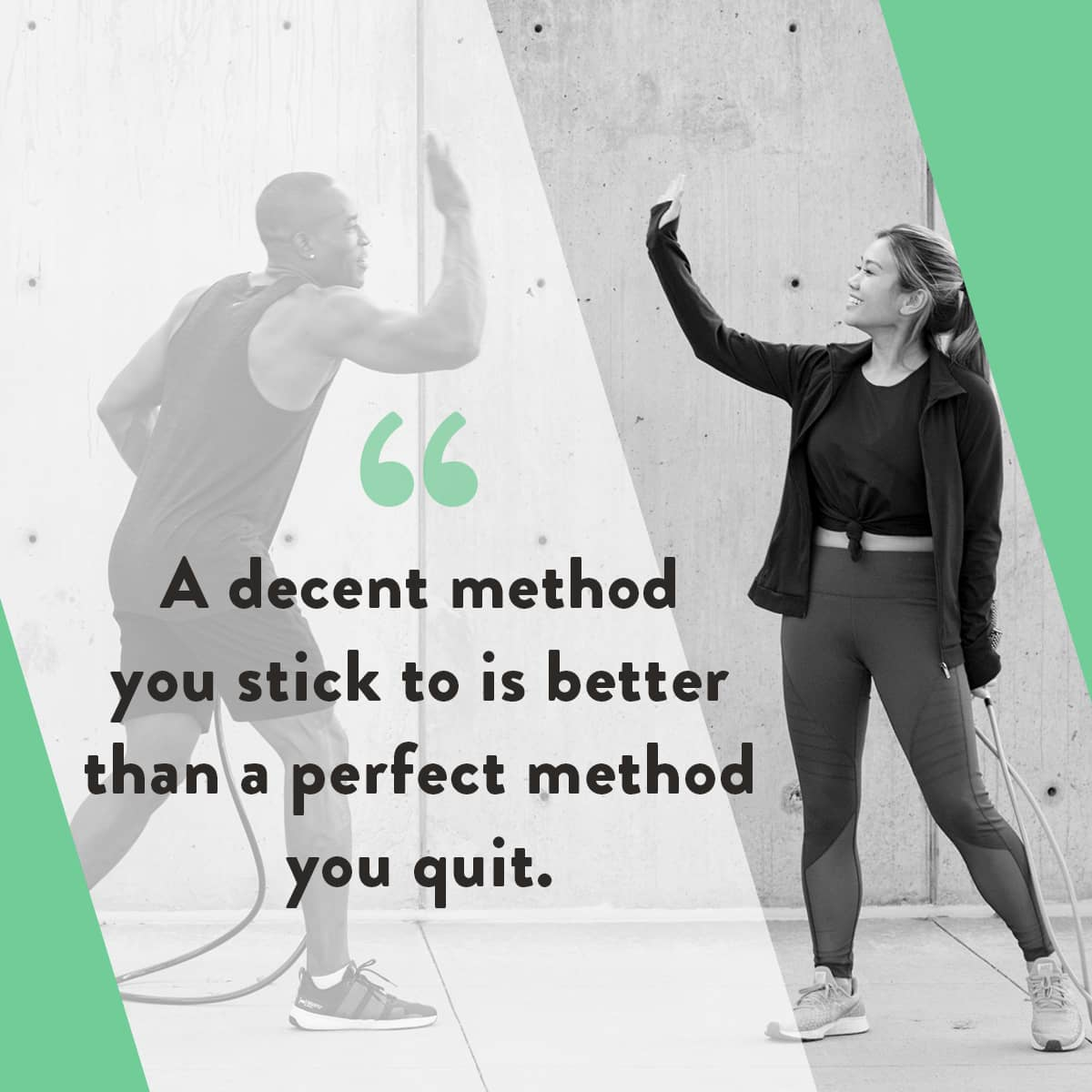 Motivational exercise quote from Crossrope