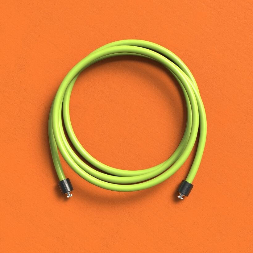 The 1 1/2 LB Speed Pro LE rope on an orange background