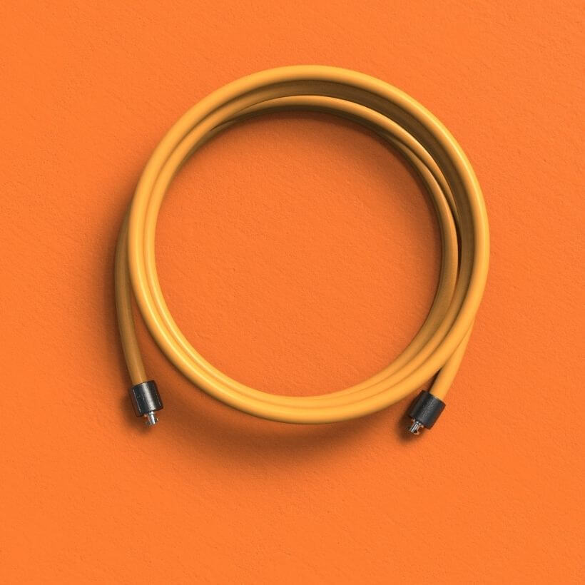 The orange 1 LB Speed Pro LE rope on an orange background