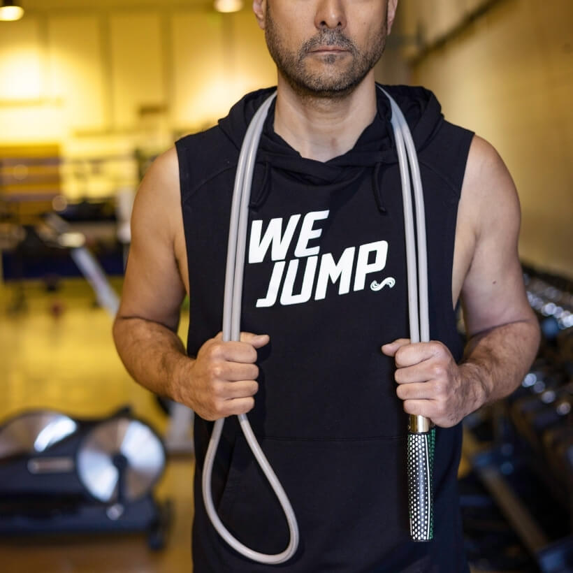 Men's We Jump Hoodie with Get Strong Jump Rope