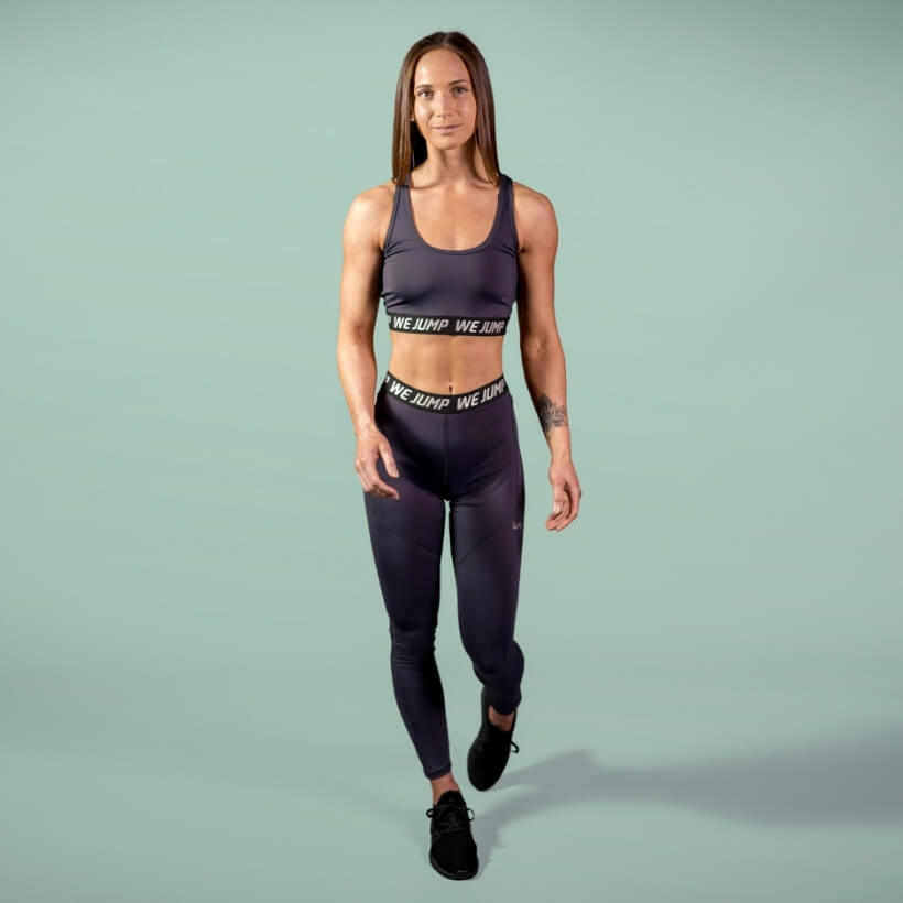Women's We Jump Sports Bra Front View