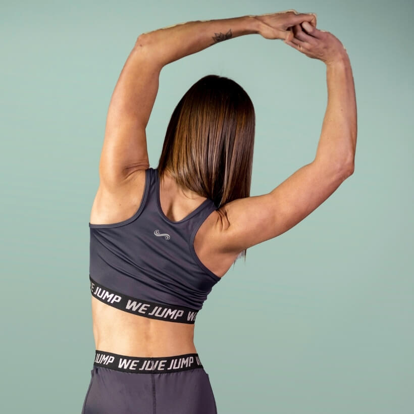 Women's We Jump Sports Bra Back View