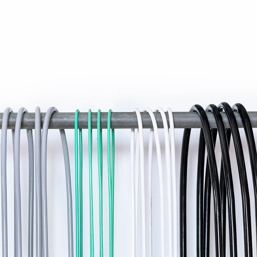 A detailed view of 2 LB Heavy Ropes, 1/4 LB Jump Ropes, 1/2 LB Jump Ropes and 2 LB Heavy Ropes