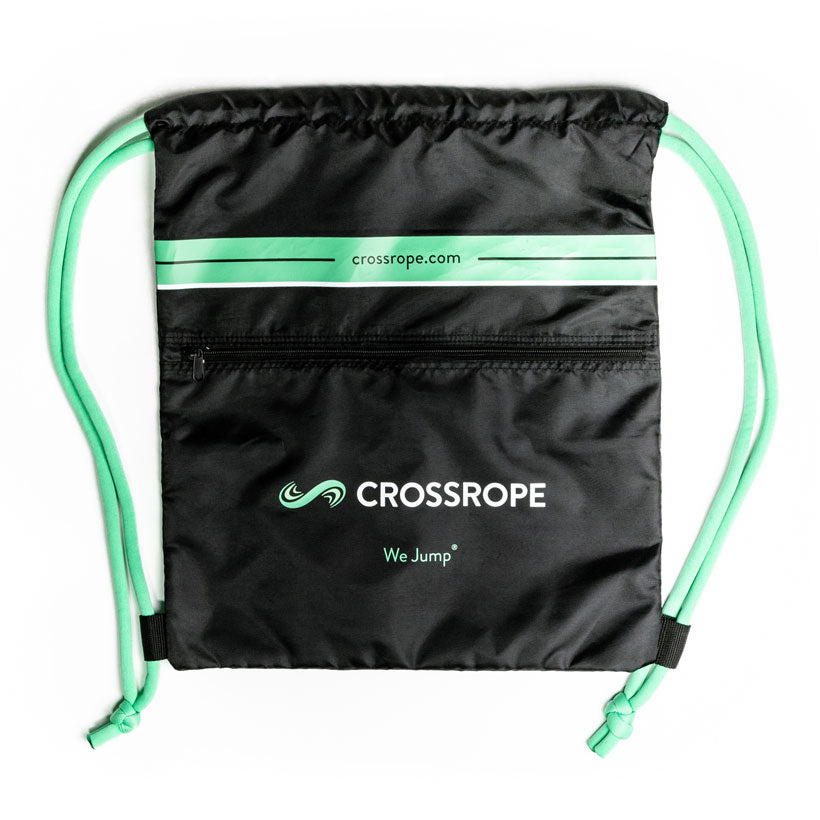 A front view of the Jump Rope Workout Bag