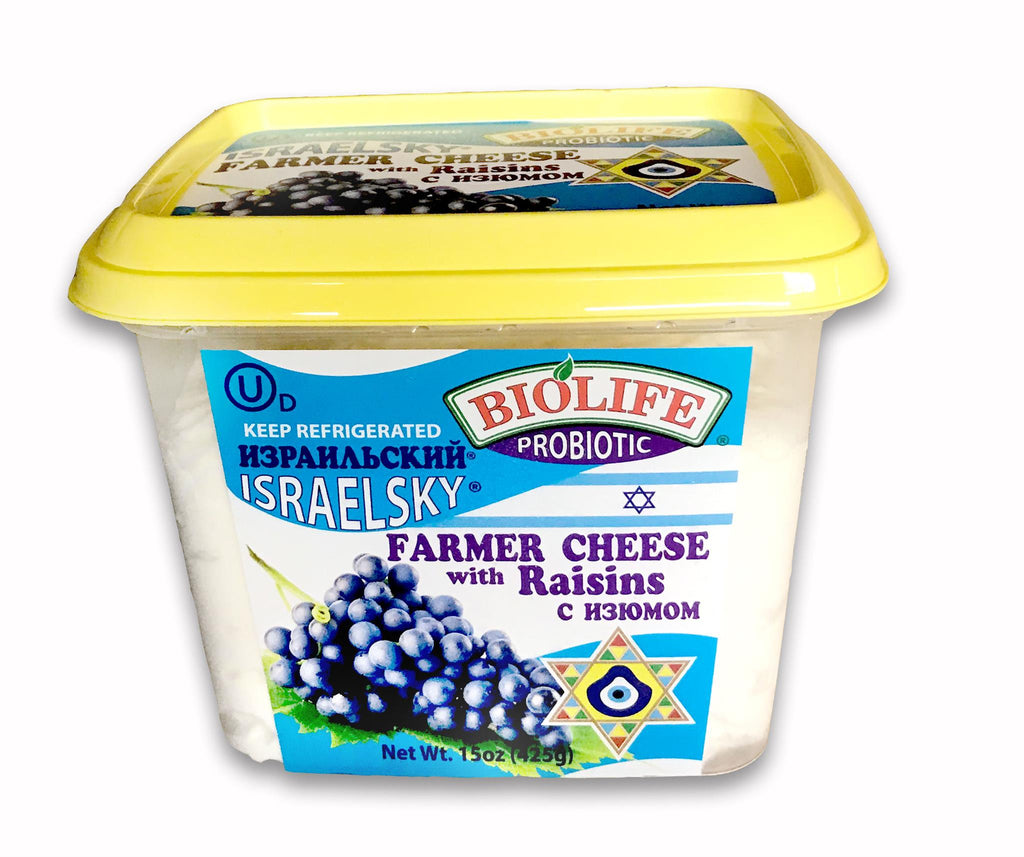 Sweet Cheese with Raisin, 15oz 425 gr