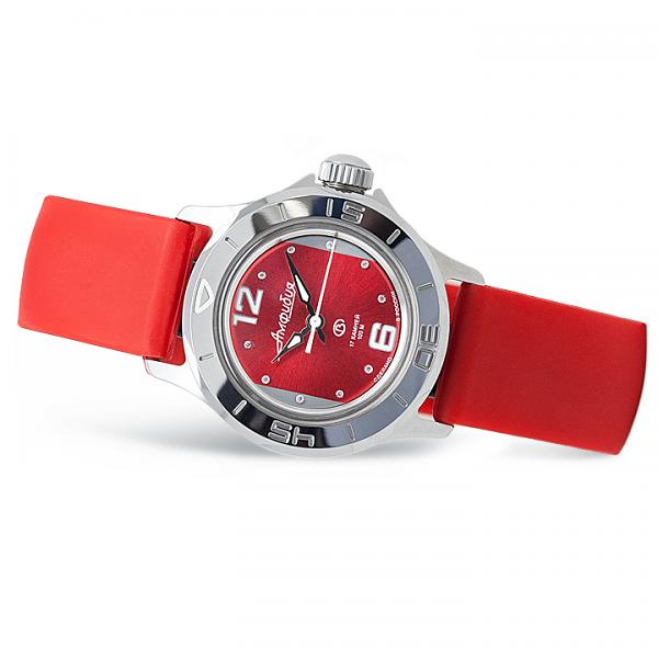 Vostok Amphibian Russian Automatic Women's Watch (051224) Red